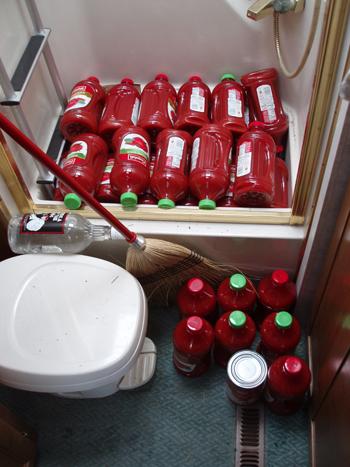 Tomato juice bottles