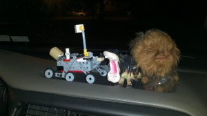 The Mars Rover, Chewbaca, and a Hippo are our co pilots!